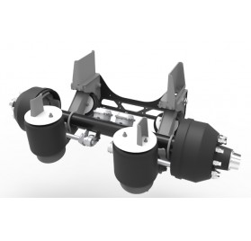 20,000 LB - LINK DURAMAX NON-STEERABLE LIFT AXLE (STRAIGHT AXLE, FOR TAG POSITION)