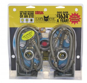 2 Unit Pack - Stainless Steel Hoses