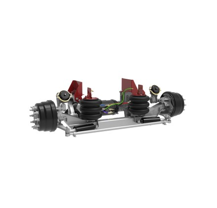 20K AUXILIARY SUSPENSION, INTEGRATED AIR (PRE-PLUMBED, INCLUDES AIR TANK), INCLUDES HUB PILOTED HUBS AND DRUMS