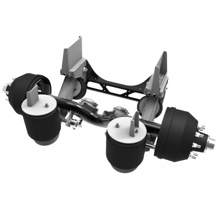 20,000 LB - LINK NON-STEERABLE LIFT AXLE (STRAIGHT AXLE, FOR TAG POSITION)